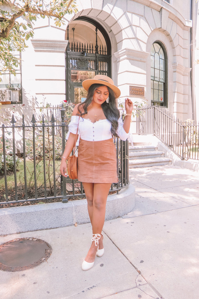 SUEDE SKIRT TREND FOR FALL