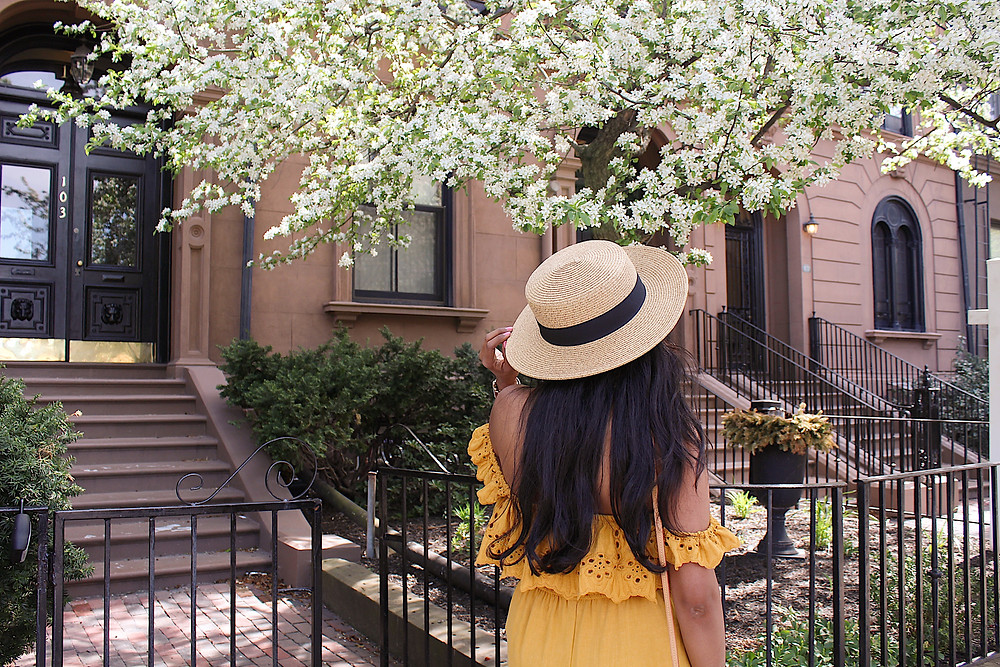 yellow off shoulder jumpsuit