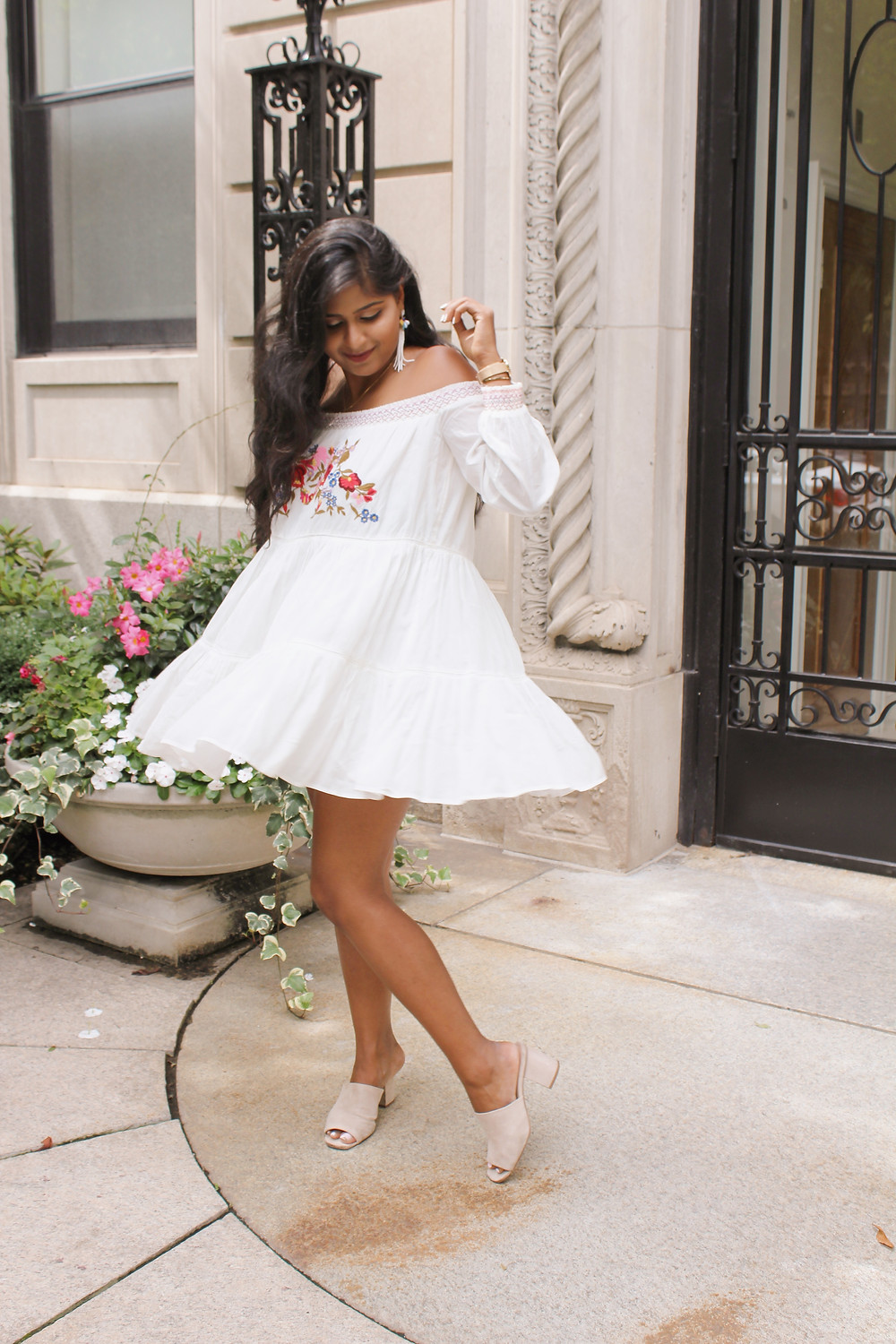 free people floral off shoulder dress