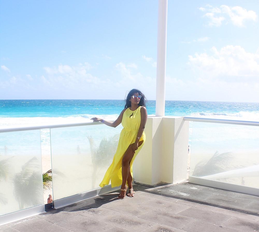 maxi beach slit dress