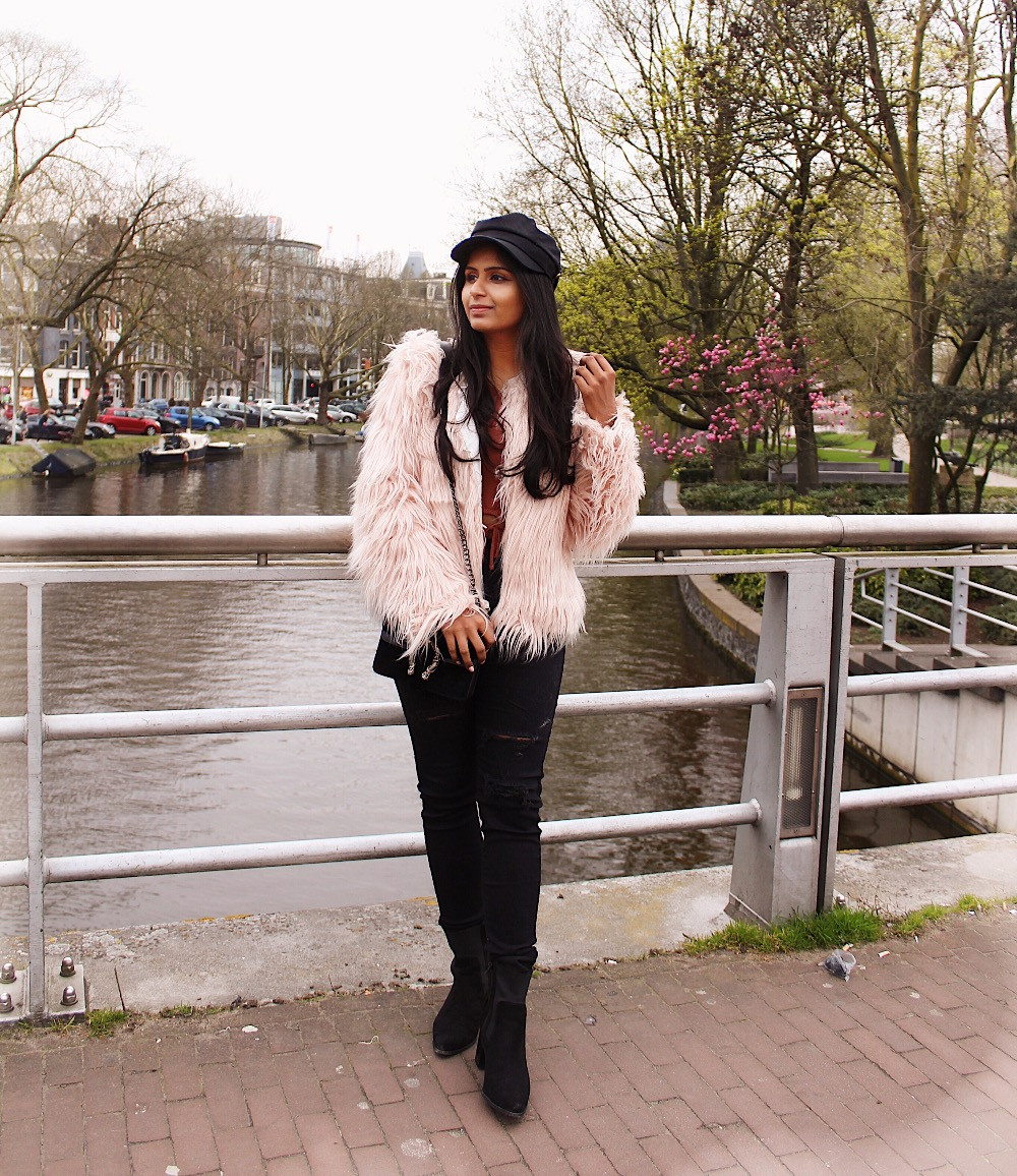 Faux fur coat in amsterdam
