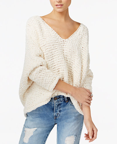 white cozy sweater