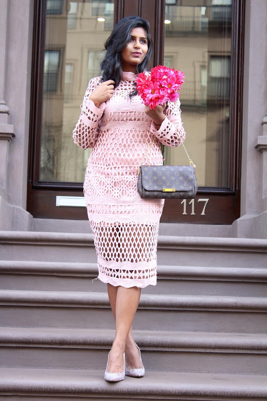 BLUSH PINK VALENTINE'S DAY DRESS