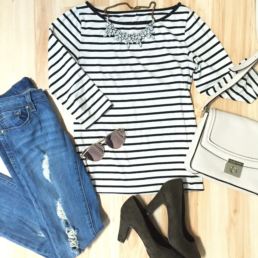 Women's stripes sailor shirt