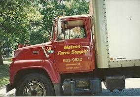 little Glenn in the big truck