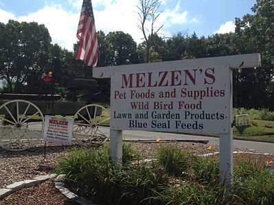 Melzen's sign by the road