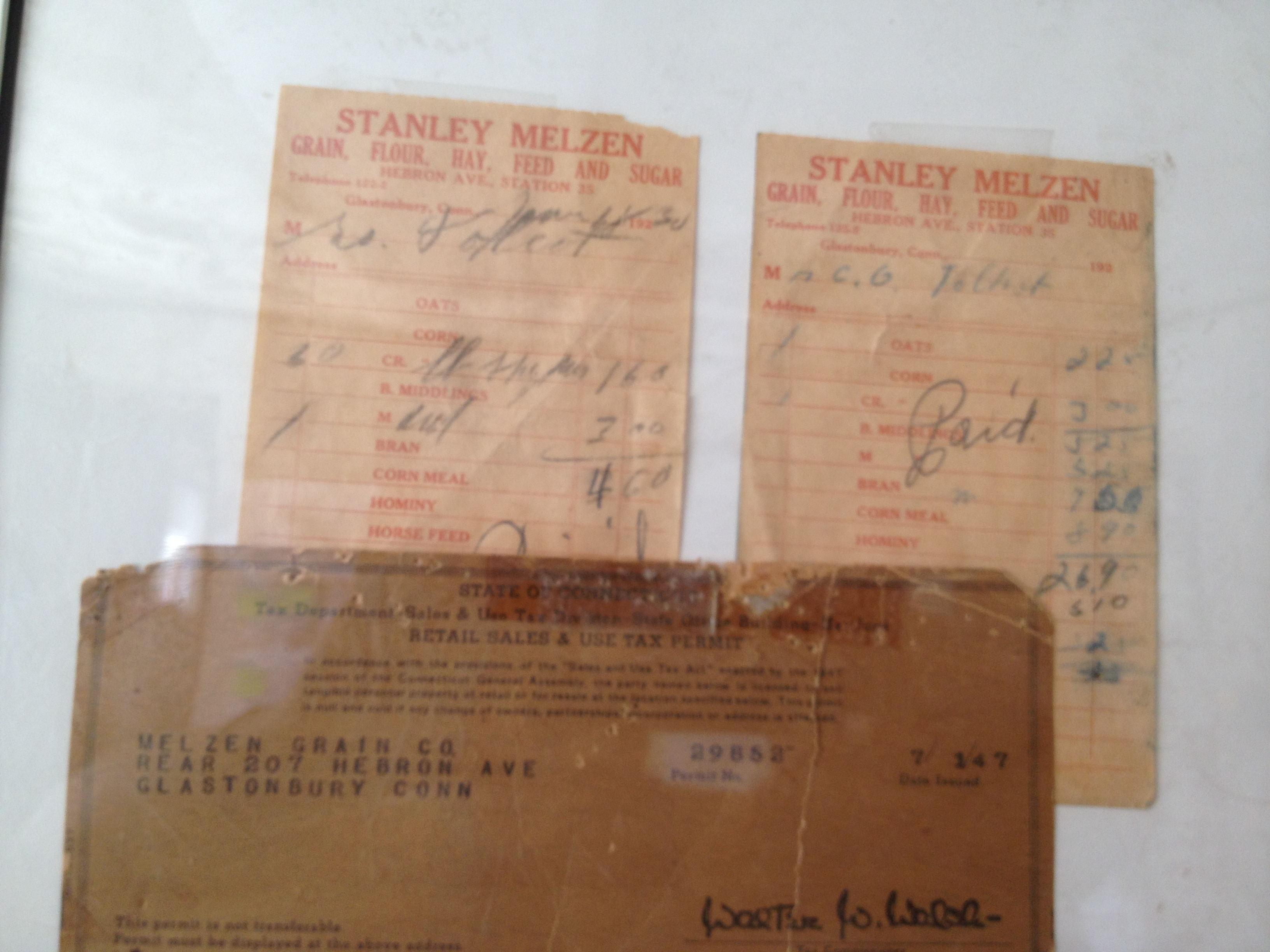 A few original invoices