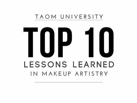 TOP 10 lessons learned in Makeup Artistry