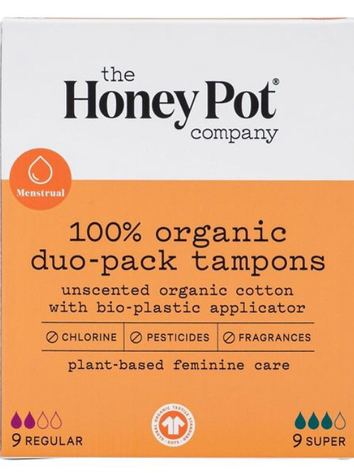 The Honey Pot Co. - 100% Organic Duo-Pack Tampons