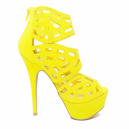 Diva Yellow Platform Stiletto
