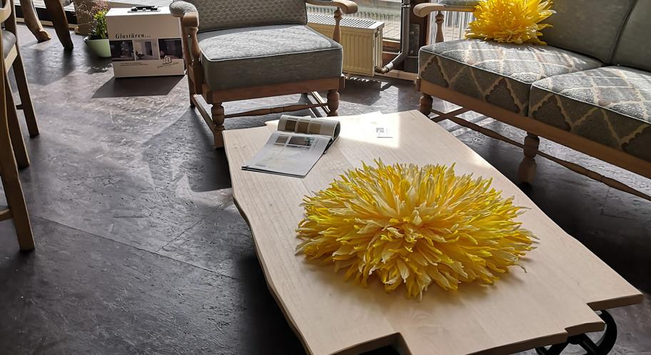Überarbeitete Couch-Garnitur aus Buche Massiv