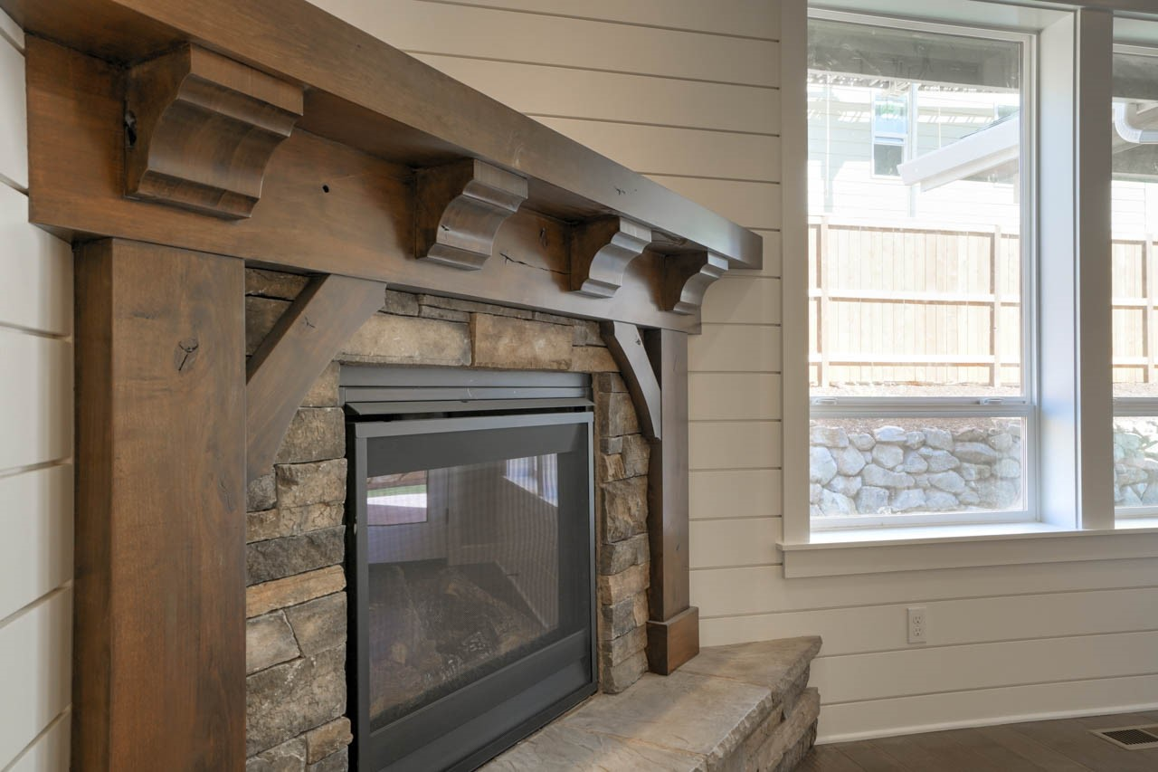 Lot 18 fireplace