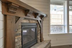 Lot 18 fireplace