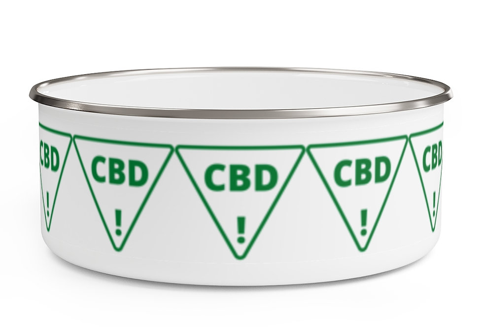 CBD Warning Enamel Storage Bowl