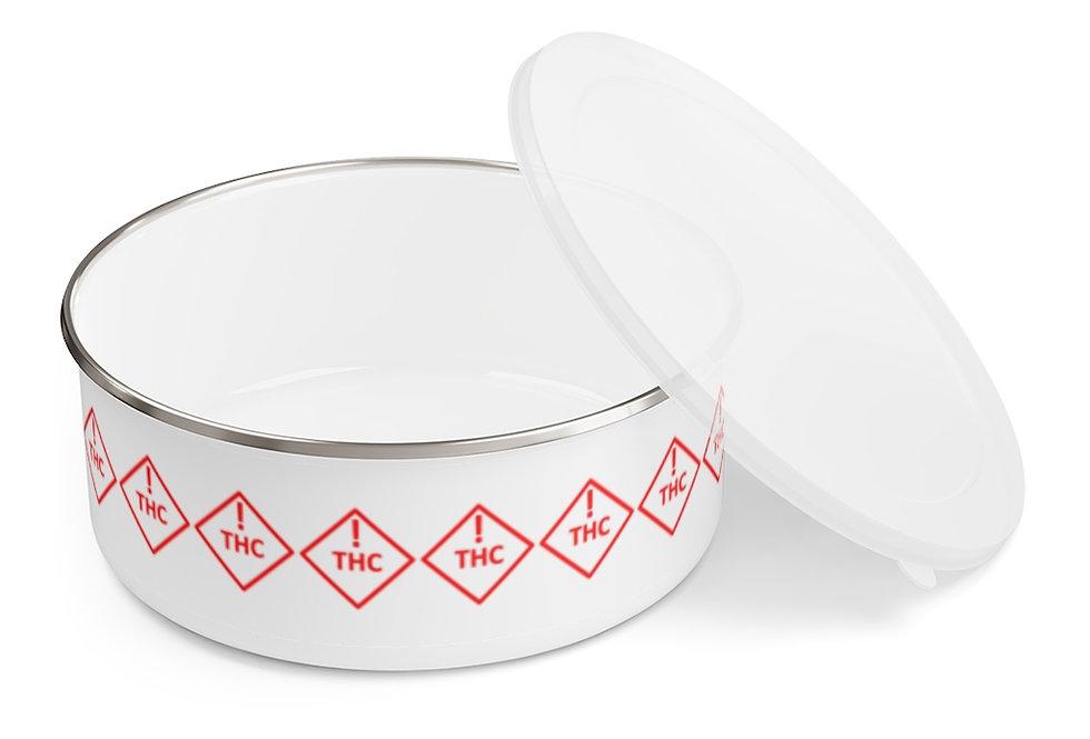 THC Warning Enamel Storage Bowl