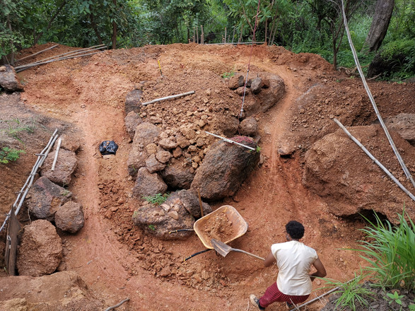 creusement de l'évacuatio