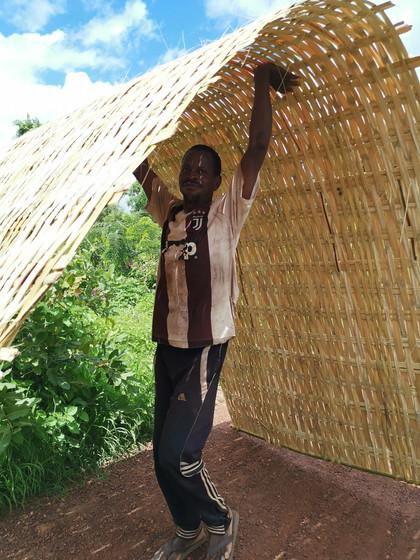 portail ou cloison en bambou