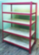 Shelves with wood top-RED