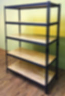 Shelves with wood top