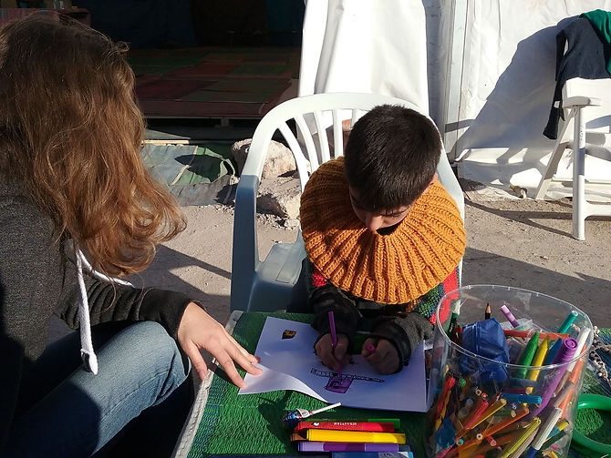 Emergency education for refugee children on Lesvos