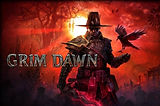Cover art of the game Grim Dawn with logo