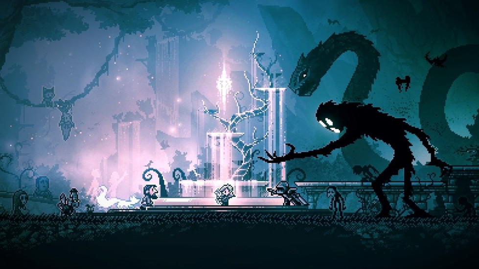 Art of the game Inmost featuring the game characters