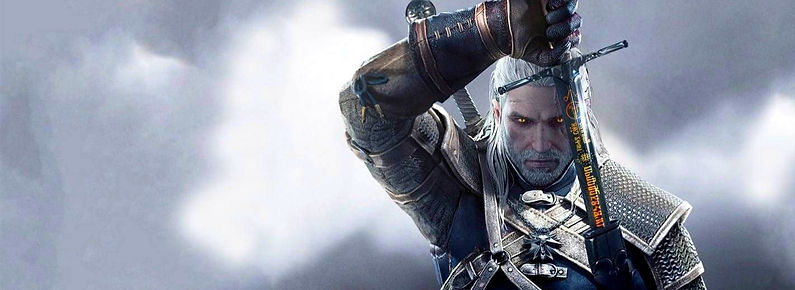 The cover image from the game The Witcher 3: Wild Hunt