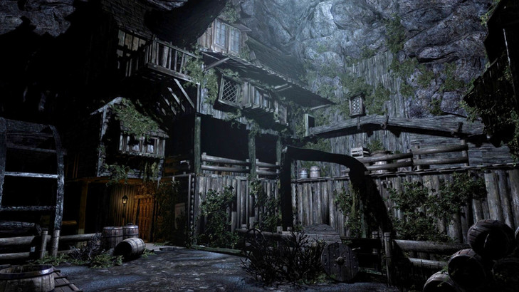 Image of a house on the underground in a place called 'Undercity' from the game Enderal: Forgotten Stories