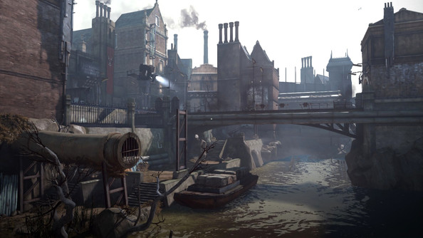 Cityscape of the Dunwall City from the game Dishonored