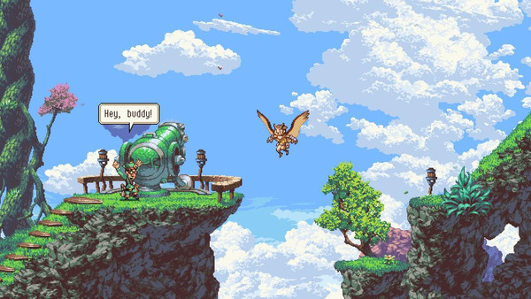 Geddy and Otus from the game Owlboy