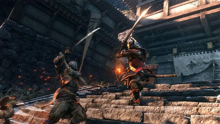 Sword fight in the game Sekiro