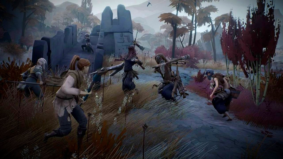 Fighting enemies in the game Ashen