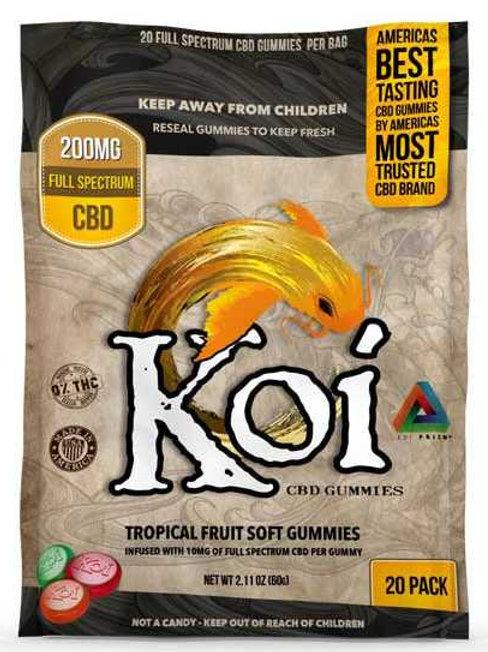 Koi CBD Regular Tropical Gummies 20 Count - 200mg