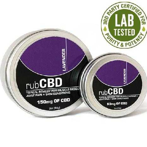 rub CBD Lavender 1oz(50mg) & 3oz(150mg)