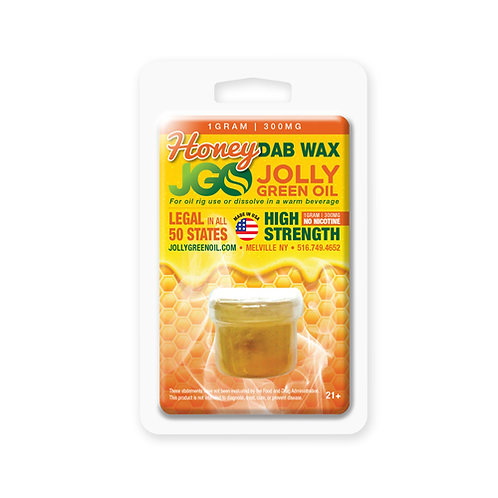 Honey CBD Dab Wax 1g 300mg by JGO