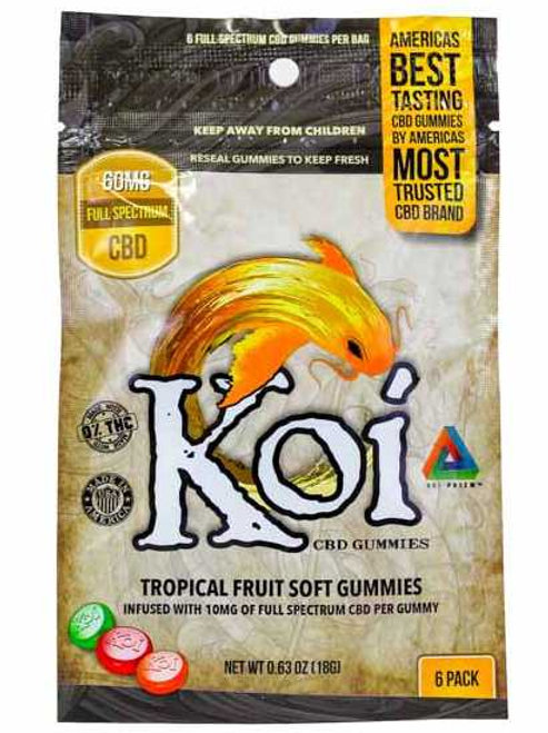 Koi CBD Regular Tropical Gummies 6 Count - 60mg