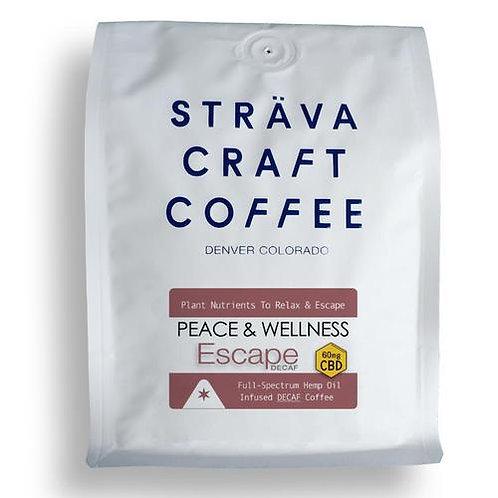 ESCAPE - Hemp Oil Infused Decaf Coffee (60mg CBD per 12oz Bag)