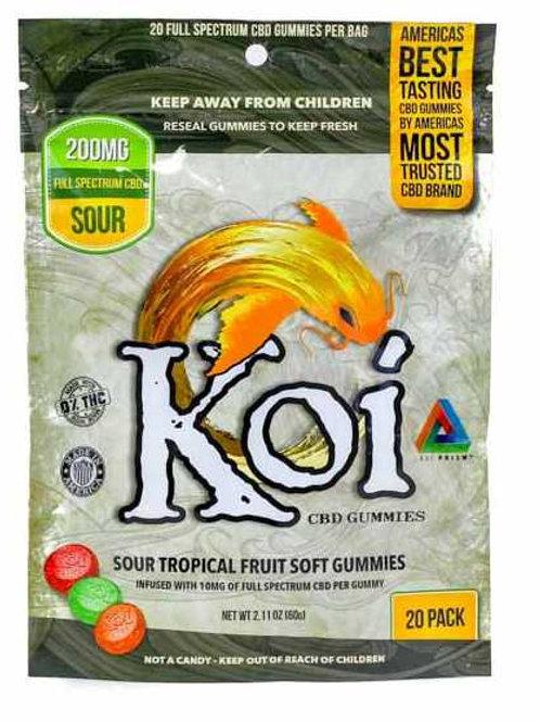 Koi CBD Sour Tropical Gummies 20 Count - 200mg