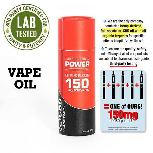 CBD Power Vape Oil Citrus Bloom