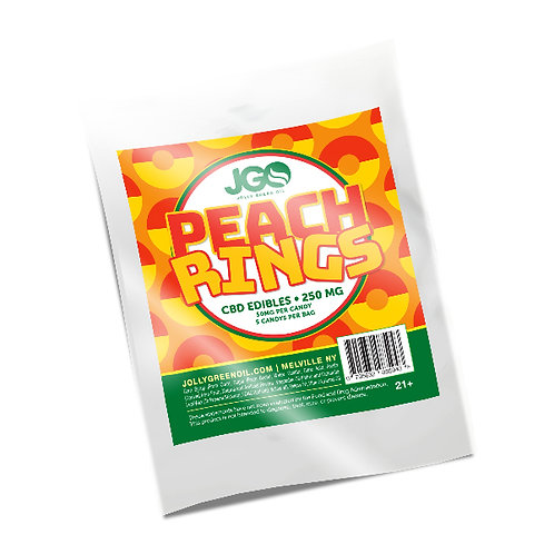 250MG CBD Peach Rings Gummies