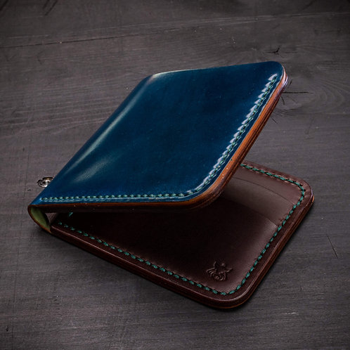 "Wallet ""Stash"" semi-SHELL CORDOVAN"