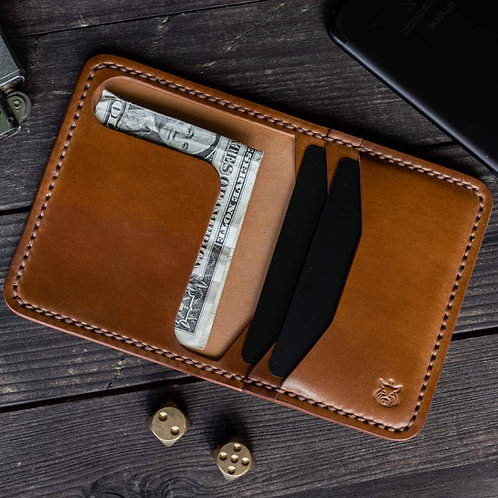 "Wallet ""Bramble"" SHELL CORDOVAN"