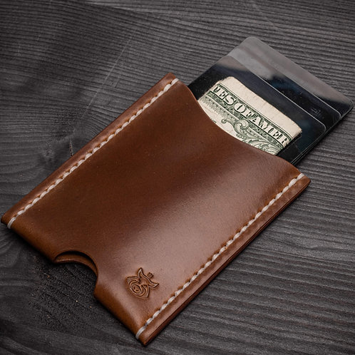 "Card holder ""Cloak"" SHELL CORDOVAN"