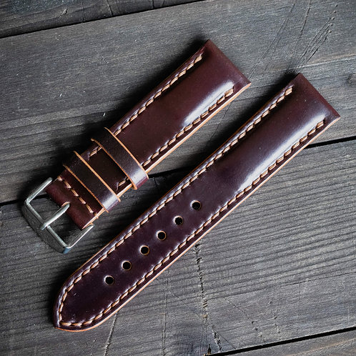 Double watch strap SHELL CORDOVAN