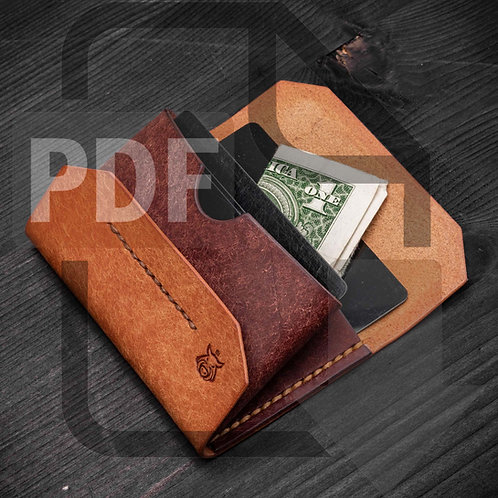 "PDF Template ""Pouch"" card holder"