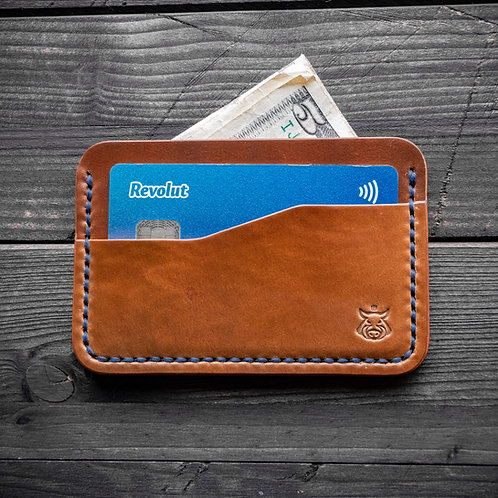 "Card holder ""Rift"" SHELL CORDOVAN"