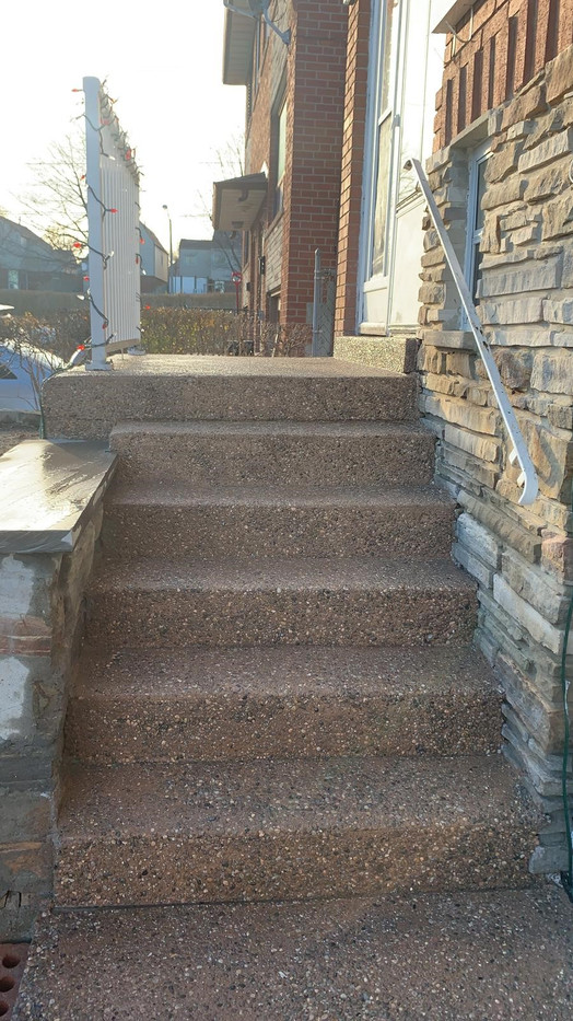new exposed aggregate steps