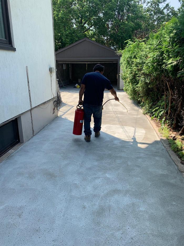 Spraying concrete protection
