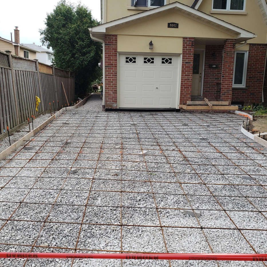 New driveway ready for concrete pour