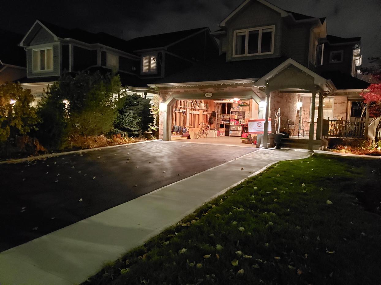New driveway and walkway
